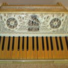 Antique Moreschi & Sons Piano Key Accordion Italian made with Case  1930's?