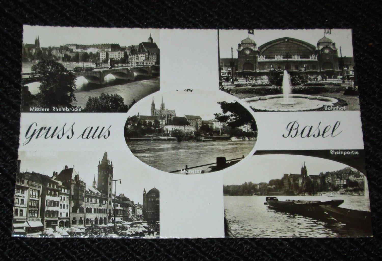 1  BASEL, GERMANY  POSTCARDS   ERA 1950/60 UNUSED