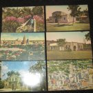 6  SAN ANTONIO, TEXAS POSTCARDS ERA 1950/60 UNUSED