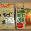 2 BOOKS COMPASSION AND SELF-HATE RUBIN 1975- LOOKING OUT FOR #1 RINGER 1977