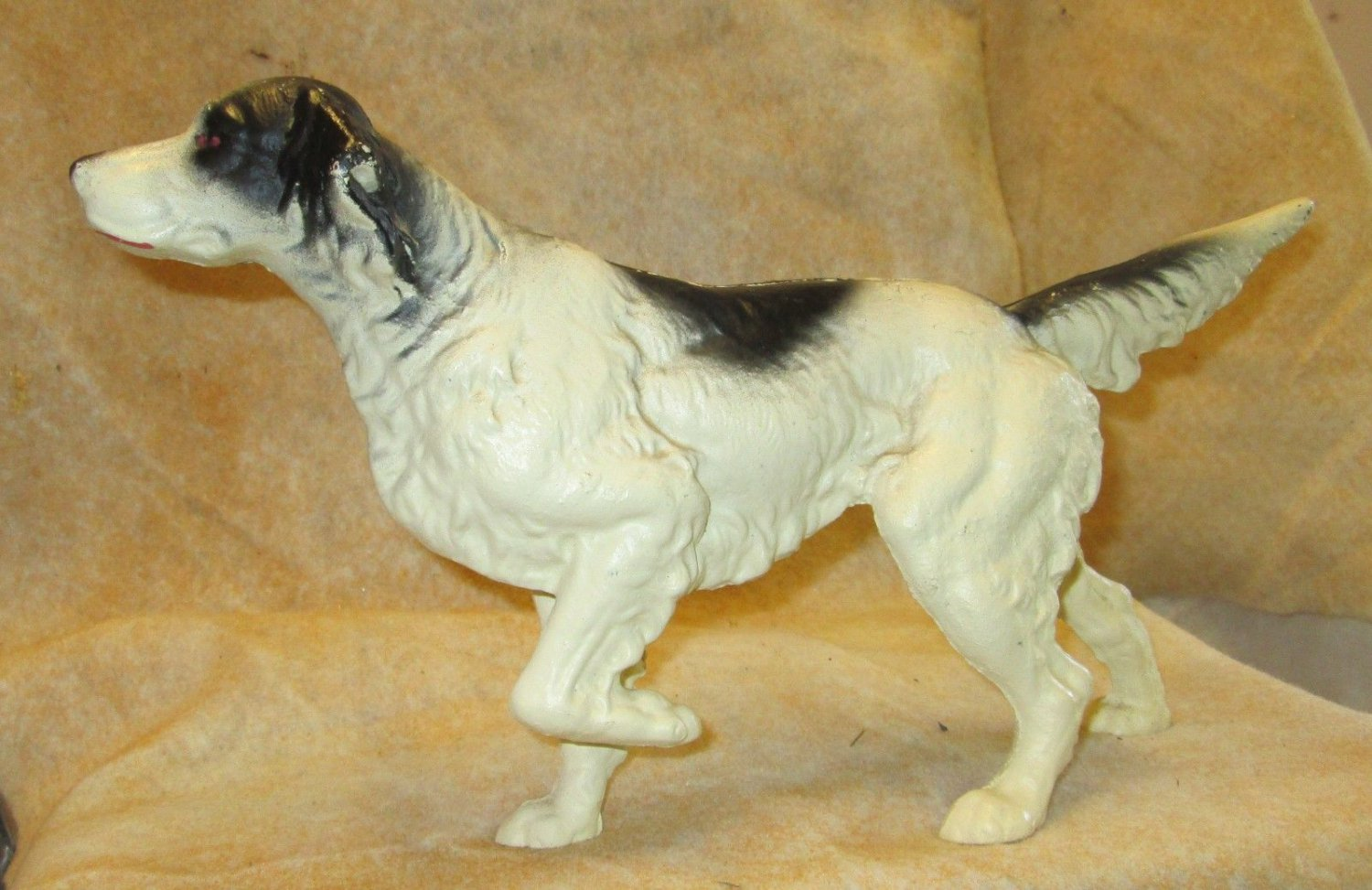 """ANTIQUE CAST IRON 15"""" LONG DOOR STOP HUNTING SETTER POINTER DOG"""