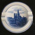 German Ashtray - WAECHTERSBACH Stuttgart, Altes Schloss Germany - Blue & White