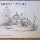 """4 PENCIL SKETCHES BY ROBERT W DYAS """" ISU CAMPUS IMAGES""""  IOWA"""