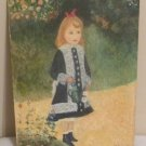 Girl with the Watering Can Orig was by Pierre-Auguste Renoir  Repro Oil on Board