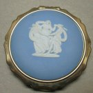 STRATTON England Gold 3 Graces Wedgwood Powder Compact Mirror no scratches
