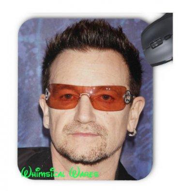 Mouse Pad Bono U2 Custom  Round or Square NEW