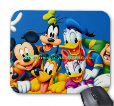 Mickey and Friends Custom Mouse Pad Round or Square NEW