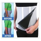 Hot Shapers Slimming Belt Adjustable 5 Zippers Sauna Body Waist Trainer Corset
