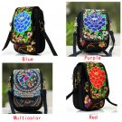 Boho Ethnic Bag Vintage Embroidered Canvas Cover Shoulder Messenger Bags Hmong Handmade Coins Bags