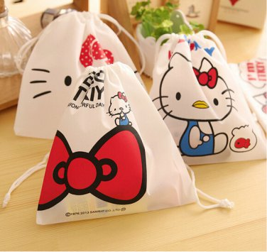 Hello Kitty Kawaii Storage Bag Cosmetic Makeup Travel Toy Organizer Necessaire