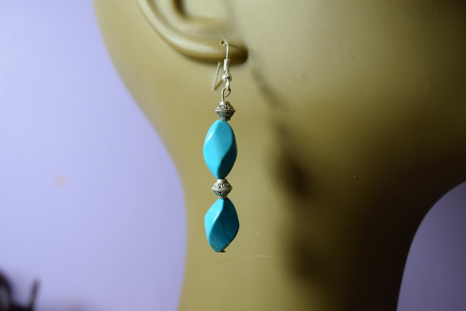 Tear drop  turquoise earrings