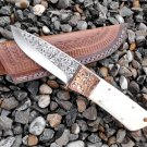 Beautiful Hand engraved Hunting knife skinner