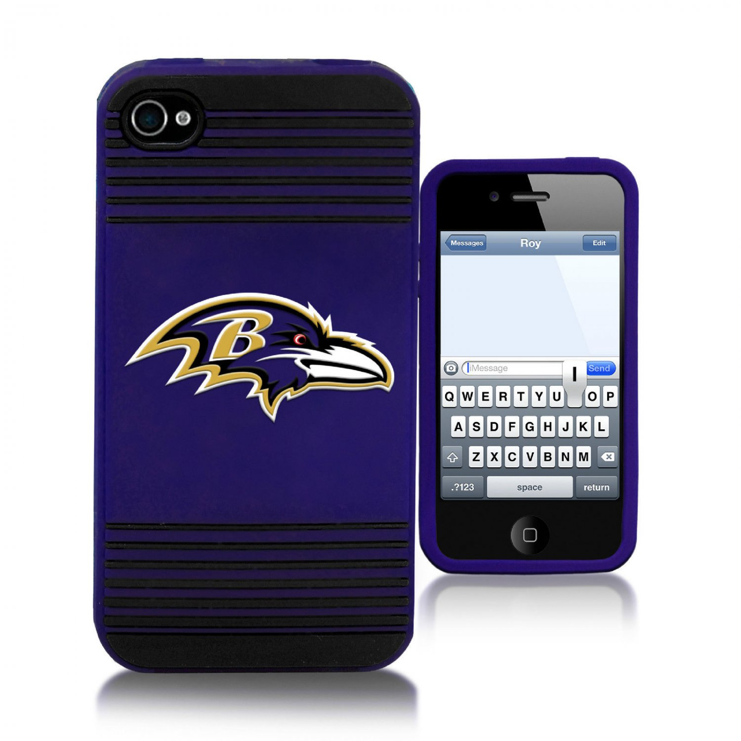 Baltimore Ravens All Silicone IPHONE 4/4S cell phone soft case - New Style