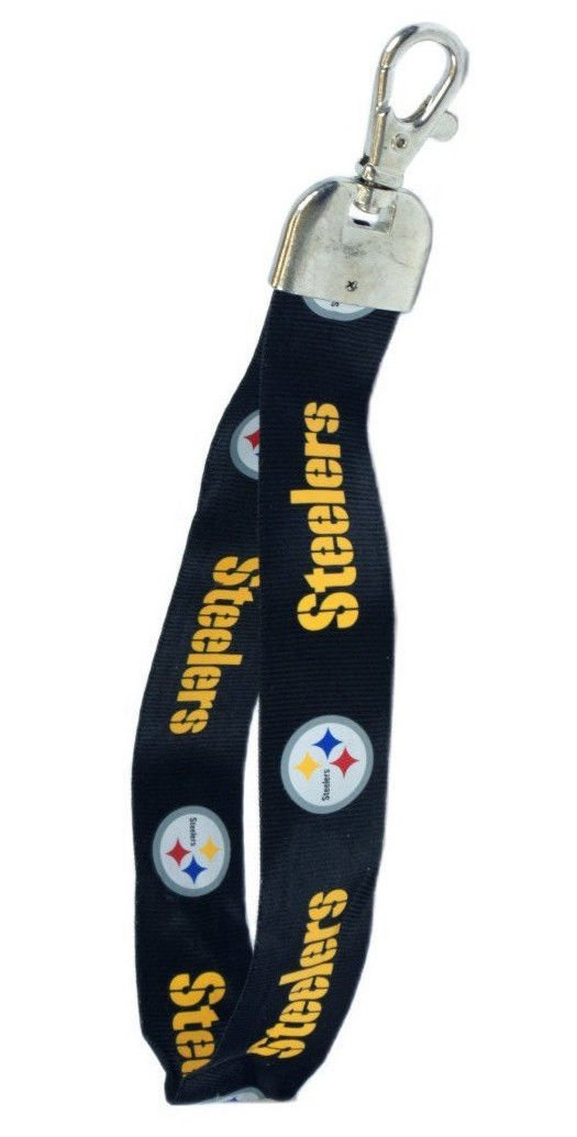 PITTSBURGH STEELERS  key chain Wristlet Short Lanyard Keychain TEAM COLOR