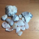 Healing chakra crystals and quartzite