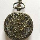 Personalized Quartz Bronze Rabbit  Pocket Watch Necklace Steam Punk