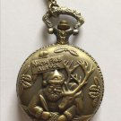 Personalized Quartz Bronze Santa Claus Pocket Watch Necklace Steam Punk