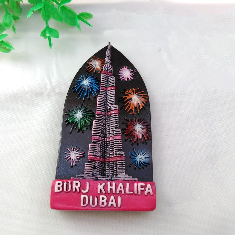 3D Resin World Tourism Souvenir Fridge Magnet - Dubai