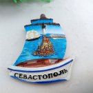 3D Resin World Tourism Souvenir Fridge Magnet - Russia Ship