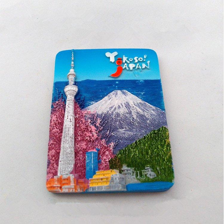 3D Resin World Tourism Souvenir Fridge Magnet - Fuji Japan