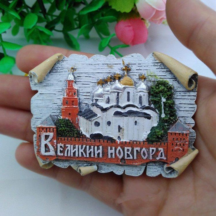 3D Resin World Tourism Souvenir Fridge Magnet - Russia Moscow Moscow
