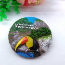 3D Resin World Tourism Souvenir Fridge Magnet - Venezuelan Parrot