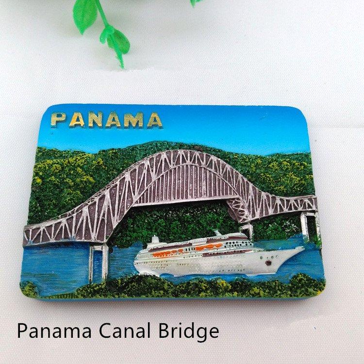 3D Resin World Tourism Souvenir Fridge Magnet - Panama Canal Bridge