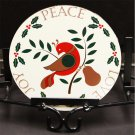 "Peace Love Joy Distelfink Bird Christmas 8"" Barn Hex Sign German Folk Art"