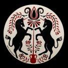"Red Unicorn Peace 16"" Barn Hex Sign German Amish Folk Art"