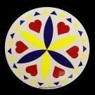 "Love Romance Yellow Barn Star 16"" Hex Sign German Amish Good Luck"