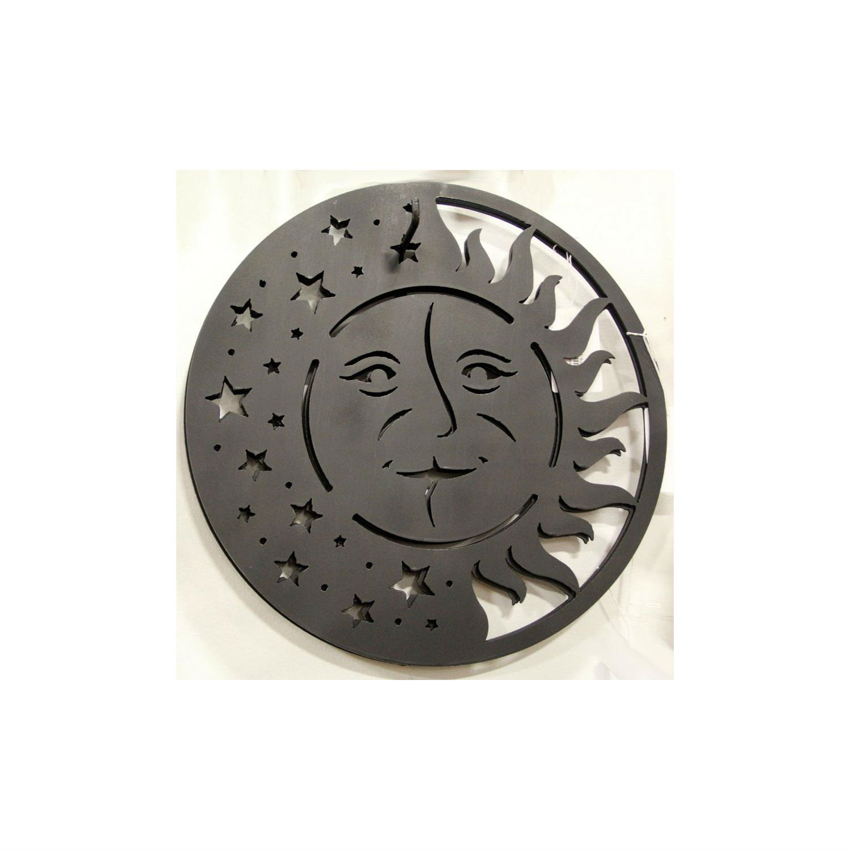 Ogman Sun Face Sign Wrought Iron Metal Folk Art Lancaster County Pa Dutch Meval