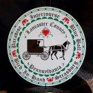 "Multi Town Heart Lancaster County PA Amish Buggy 12"" Barn Sign Folk Art"