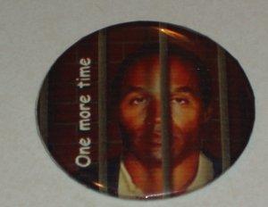 OJ Simpson behind bars, badge, button, pin  - FUN 0003