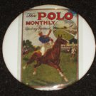 Polo monthly magazine on a badge H 0011