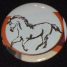 Horse artwork on a badge, pin H 0010