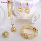 WesternRain Charming Lady Gold Plated Jewelry Elegant Fashion Bridal Wedding Dress Accessories