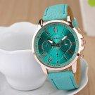 Ladies' Round Dial Case Leather Watch Brand Fashion Quartz Watch Sport Watch Cool Watches