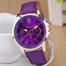 Ladies' Round Dial Case Leather Watch Brand Fashion Quartz Watch Sport Watch Cool Watches