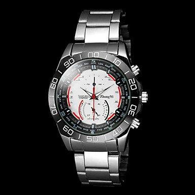Men�s Casual Silver Alloy Quartz Wrist Watch Cool Watch Unique Watch #04456054