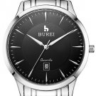 BUREI ® Men's Brand Stainless Steel Business Watch with Calendar Function Fashion Quartz Sapphire
