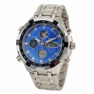 Men's Multifunctional Analog-Digital Full Steel Band Wrist Watch (Assorted Colors)