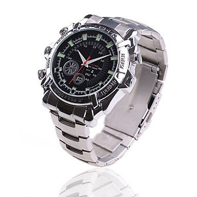 8GB Hidden Camera Camera Men's Infrared HD 1080P Waterproof Watch
