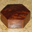 Moroccan Thuya Burl Handcrafted Hexagon Shape Jewelry Box - Hexagon Jewelry Box