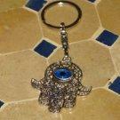 Hamsa keychain-Evil eye keychain -Hamsa hand keychain- Judaica hamsa- Hamsa hand