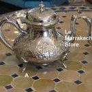 Moroccan  mint tea pot - Moroccan Tea set -Moroccan Silver Teapot -Silver teapot