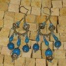 Moroccan Turquoise Bohemian Chandelier Earrings