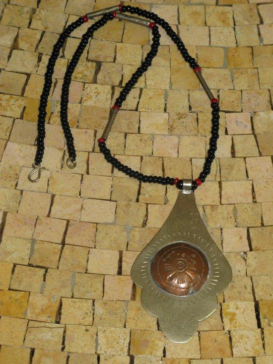 Berber Silver Copper Necklace -Mens Necklace - Charm necklace -Antique necklace