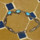Turquoise Bead Bracelet - Silver turquoise Bracelet - Turquoise Bracelet