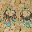Turquoise earrings - Turquoise Chandelier Earrings - Dangle Turquoise earrings