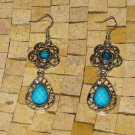 Turquoise earrings-silver Turquoise earrings-Turquoise dangle earrings-Earrings